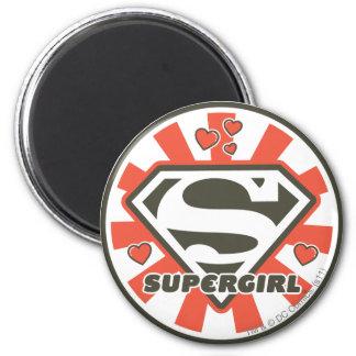 Supergirl J-Pop 7 6 Cm Round Magnet