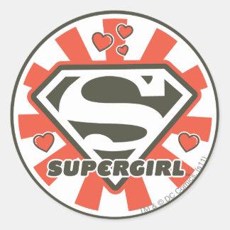 Supergirl J-Pop 7 Round Sticker