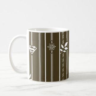 Supergirl Leaf Pattern Brown Coffee Mug