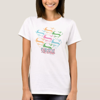 Supergirl Pastel Logo Collage T-Shirt