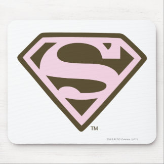 Supergirl Pink and Brown Logo Mouse Pad