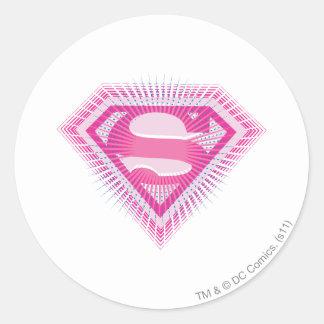 Supergirl Pink Logo Round Sticker