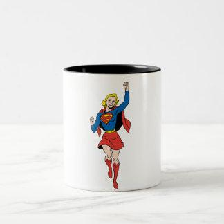 Supergirl Pose 4 Two-Tone Coffee Mug