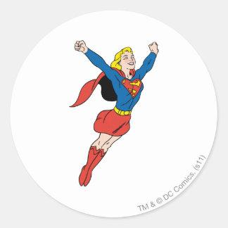 Supergirl Pose 6 Round Sticker