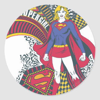 Supergirl Random World 1 Classic Round Sticker