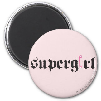 Supergirl Safety Pin Letter 6 Cm Round Magnet
