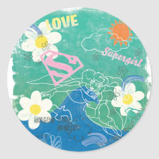 Supergirl Share the Spirit & Love Round Sticker