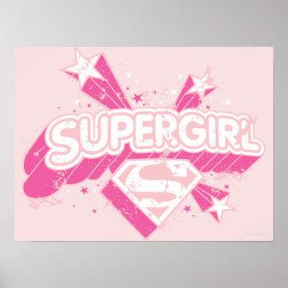 Supergirl Stars and Logo Poster