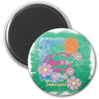Supergirl Sun and Love 6 Cm Round Magnet