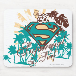 Supergirl Surf Mouse Pad