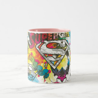 Supergirl The Lux Pattern Two-Tone Coffee Mug