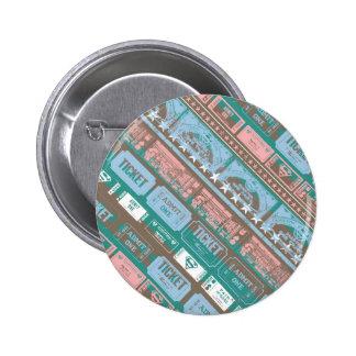 Supergirl Ticket Pattern Blue 6 Cm Round Badge
