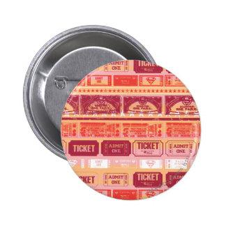 Supergirl Ticket Pattern Orange 6 Cm Round Badge