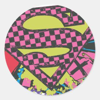 Supergirl X Classic Round Sticker
