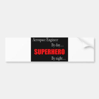 Superhero Aerospace Engineer Bumper Sticker