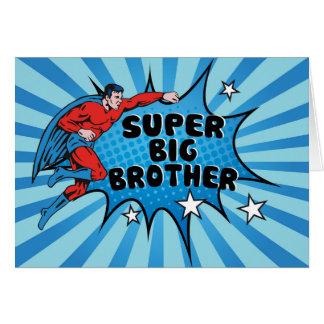Superhero Becoming a Big Brother Card