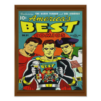 Superhero Best Comics America Issue 21 Cover Poster