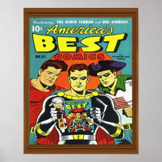 Superhero Best Comics America Issue 21 Cover Poster