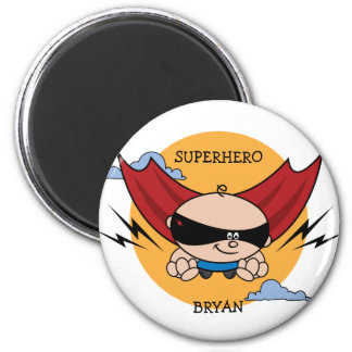 Superhero Birthday Party Favor Magnet