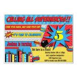 Superhero Birthday Party Invitation 13cm X 18cm Invitation Card