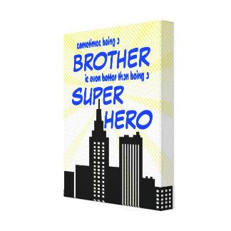Superhero Brothers Comic Book Bedroom Nursery Art Canvas Prints