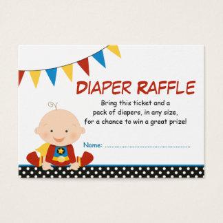 Superhero Bunting Diaper Raffle Ticket