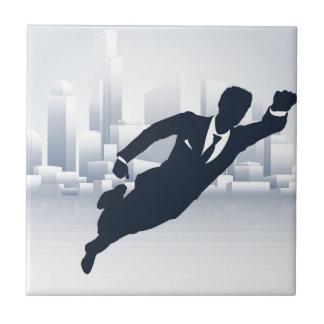 Superhero Business Man Ceramic Tile