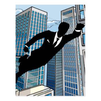 Superhero Businessman Postcard