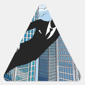Superhero Businessman Triangle Sticker