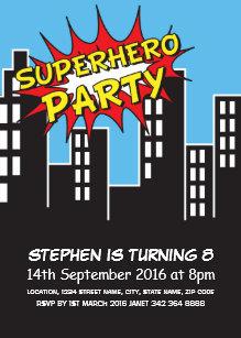 Super Hero Invitations & Announcements | Zazzle AU