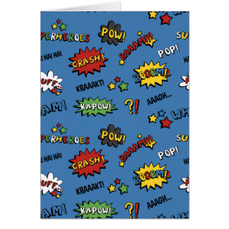 Superhero Colorful Fun Pattern Card