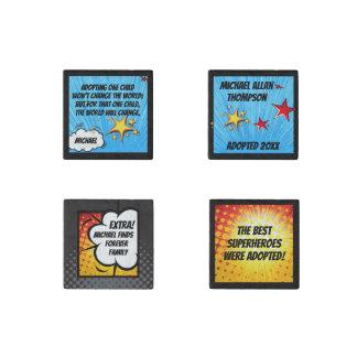 Superhero Comic Book Adoption, Family Gift Stone Magnet