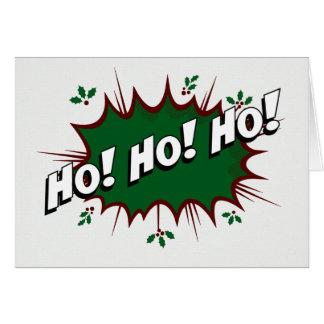 Superhero Comic Ho! Ho! Ho! Card