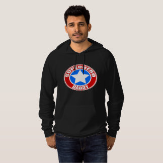 Superhero Daddy Fleece Pullover Hoodie