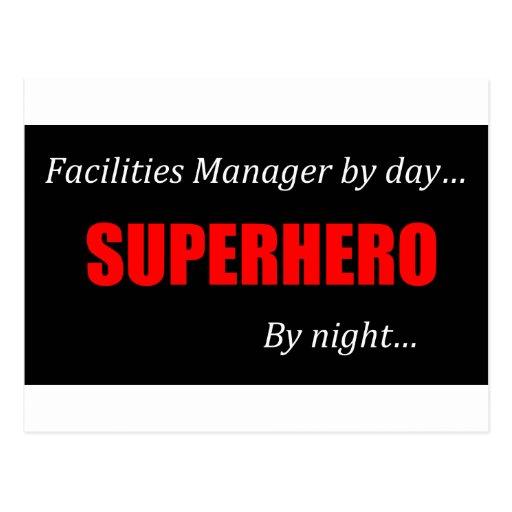 Superhero Facilities Manager Post Card