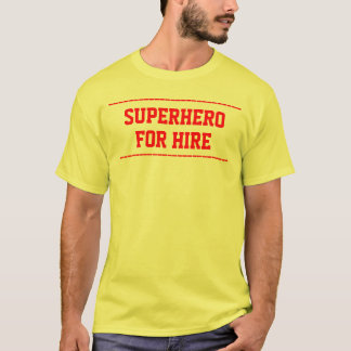 superhero for hire customise front light t-shirt