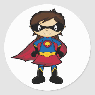 Superhero Girl Sticker