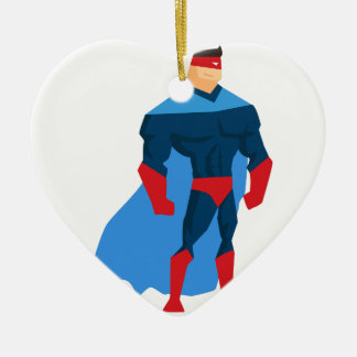Superhero in Action Ceramic Ornament