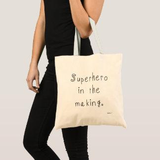 Superhero in the making tote bag