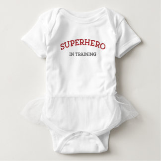 SUPERHERO in TRAINING Baby One Piece with Tutu Baby Bodysuit