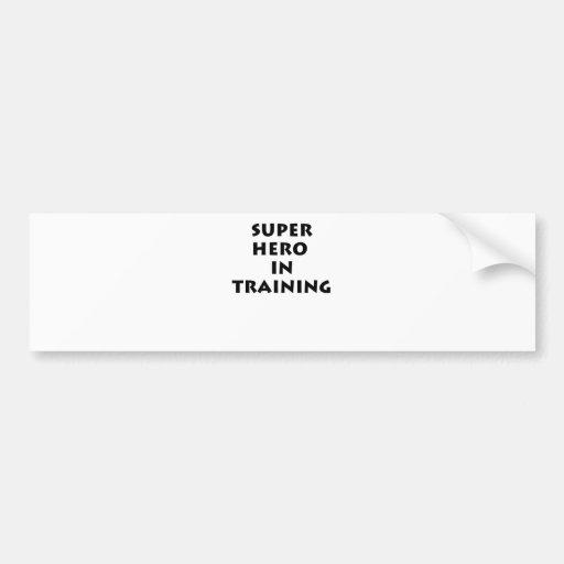 Superhero in training bumper stickers