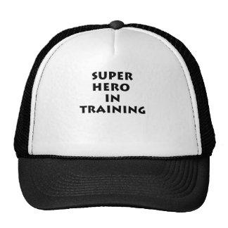Superhero in training hat