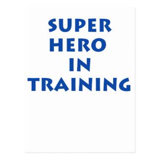 Superhero in training post cards