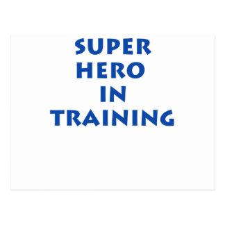 Superhero in training postcard