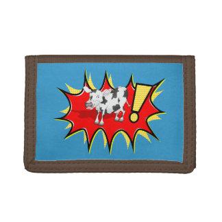 Superhero Kapow Cow Tri-fold Wallet