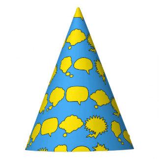 Superhero Party Hat - Speech Bubbles