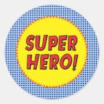 Superhero Party Sticker