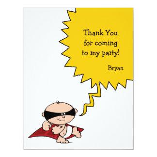Superhero Party Thank You Card 11 Cm X 14 Cm Invitation Card