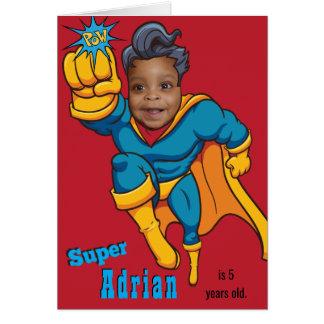 Superhero Photo Template Specialized Birthday Card