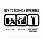Superhero Post Card